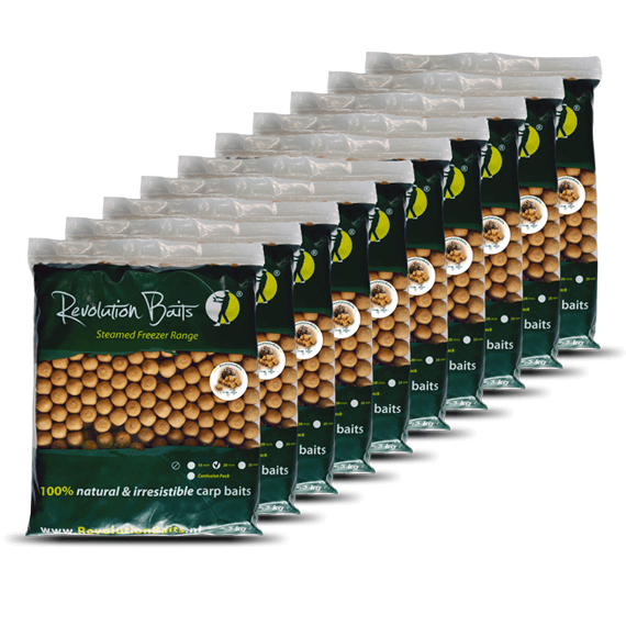 Creamy Toffee - Steamed Freezer Baits - 25kg - Revolution Baits
